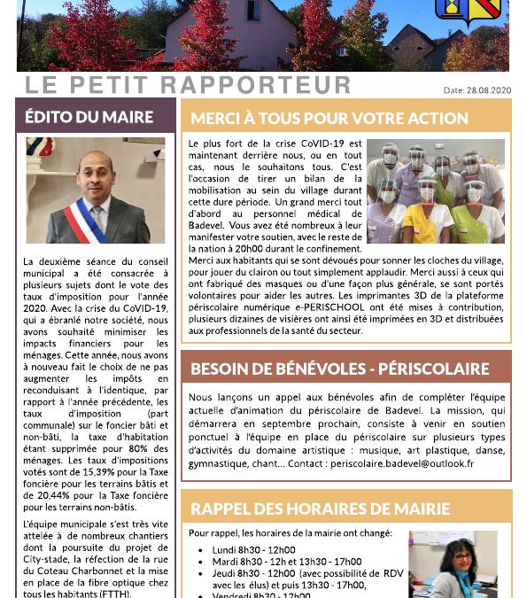 Petit Rapporteur de juillet