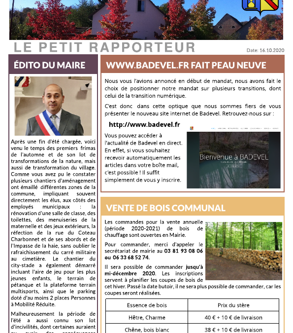 Petit Rapporteur d'Octobre